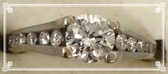 .80CT center stone with .70CT channel setting totaling 1.50CT in diamonds for $1,595