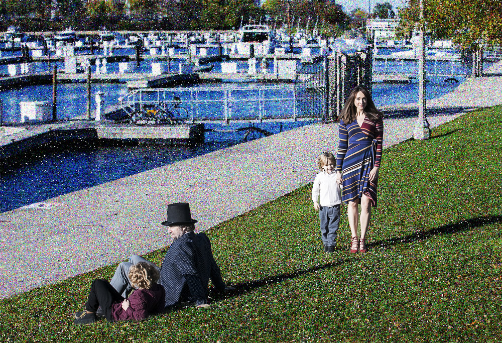 I had added an action in Photoshop to mimic the Pointillism technique of Georges Seurat whose work,  A Sunday on La Grande Jatte hangs at the Art Institute of Chicago .  Photo credit:  Josh Sears