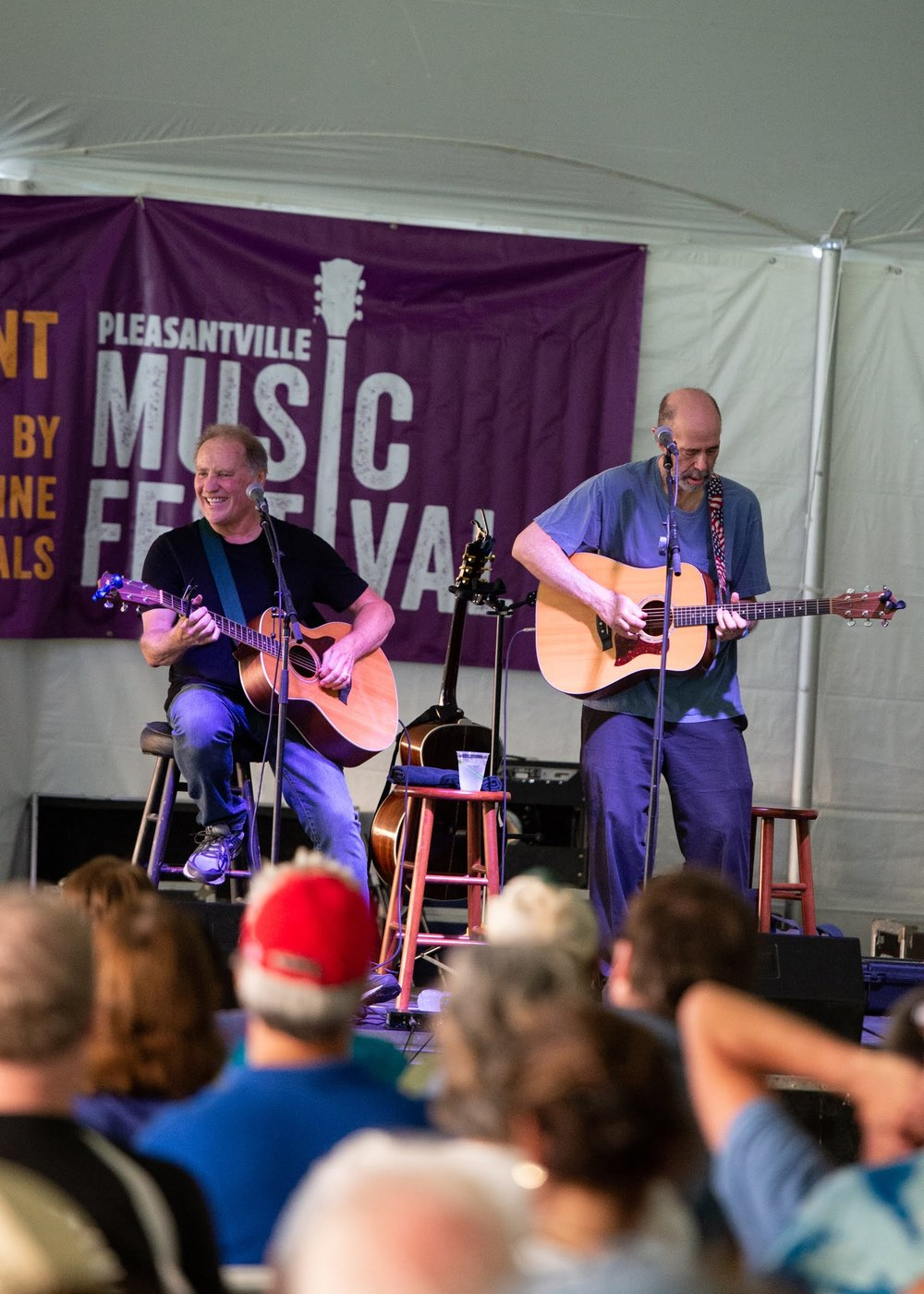 John Hall (right) with Fly Amero headlining the Chill Tent Stage © 2018 Lynda Shenkman