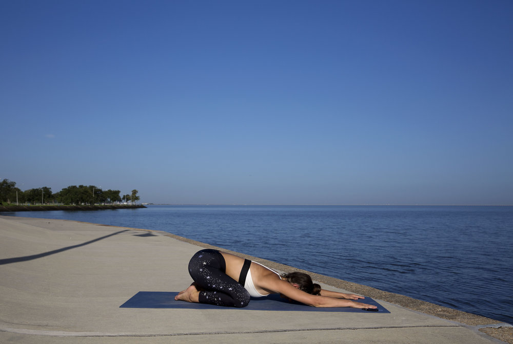 Finish with a restorative childs pose