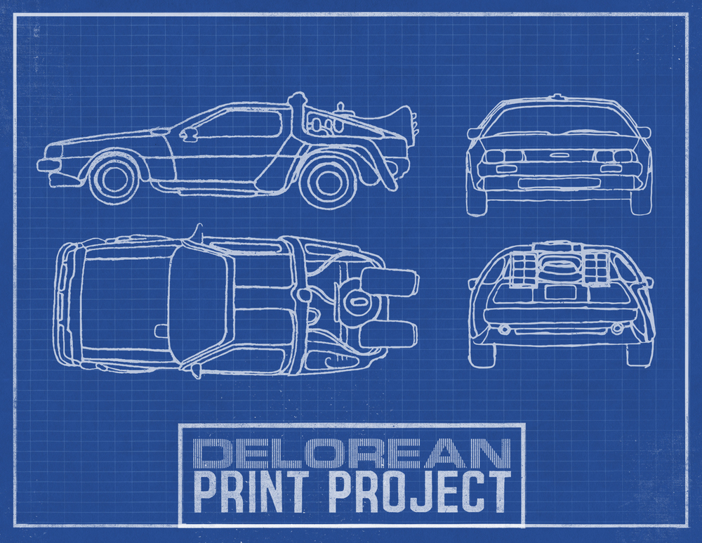 DeLorean Print Project