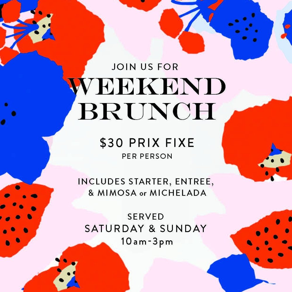 Weekend Brunch - Every Saturday & Sunday | 10am -3pm