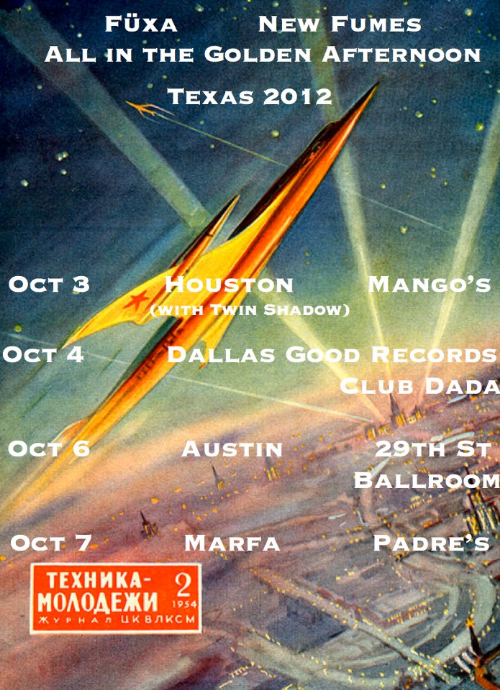 2012 Texas tour with Fuxa and New Fumes