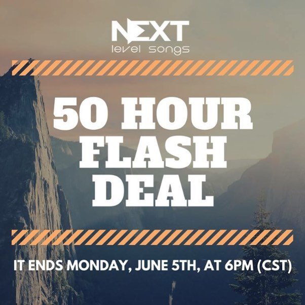 Pentecost Sunday is tomorrow and we're celebrating with a 50 Hour Flash Deal! Register for the Songwriting Retreat before 6PM (CST) on June 5th and get a FREE 3-Week Mentorship ($300 Value). More info at link in bio.