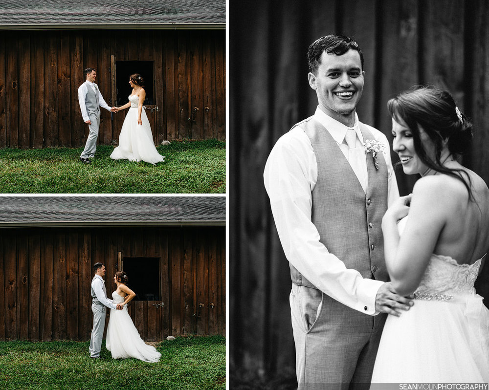 022-bride-groom-first-look-jessica-eric-uhlir-barn-zionsville-indiana-wedding.jpg