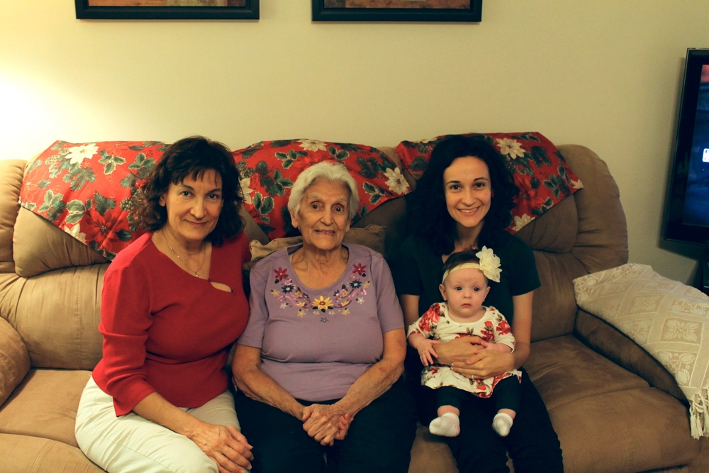 Here we are, four generations of women!  Kind of crazy.