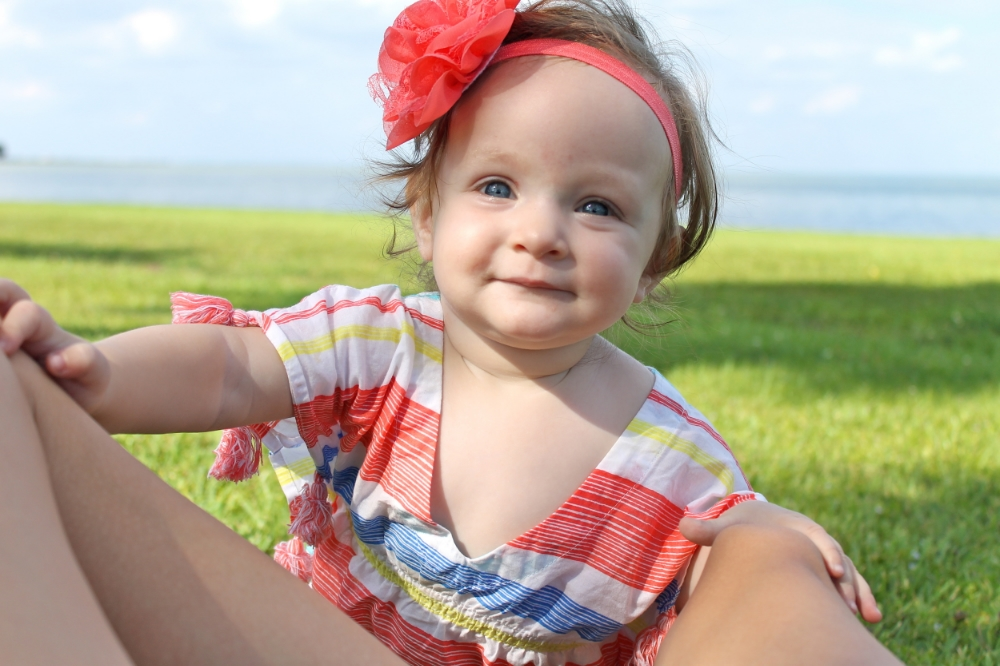 baby in summer dress