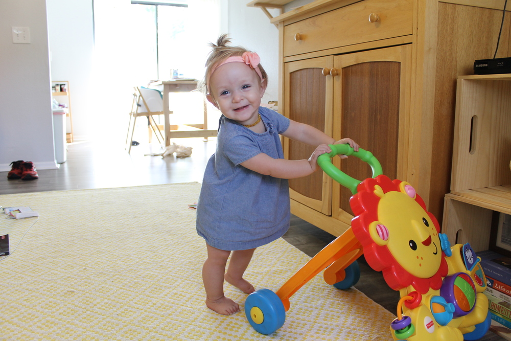 favorite baby products | Fisher-Price lion walker