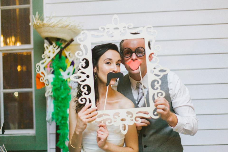 silly wedding photo