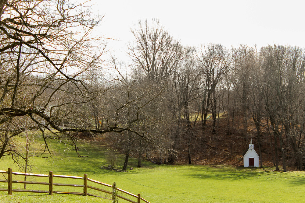 farm and little chapel
