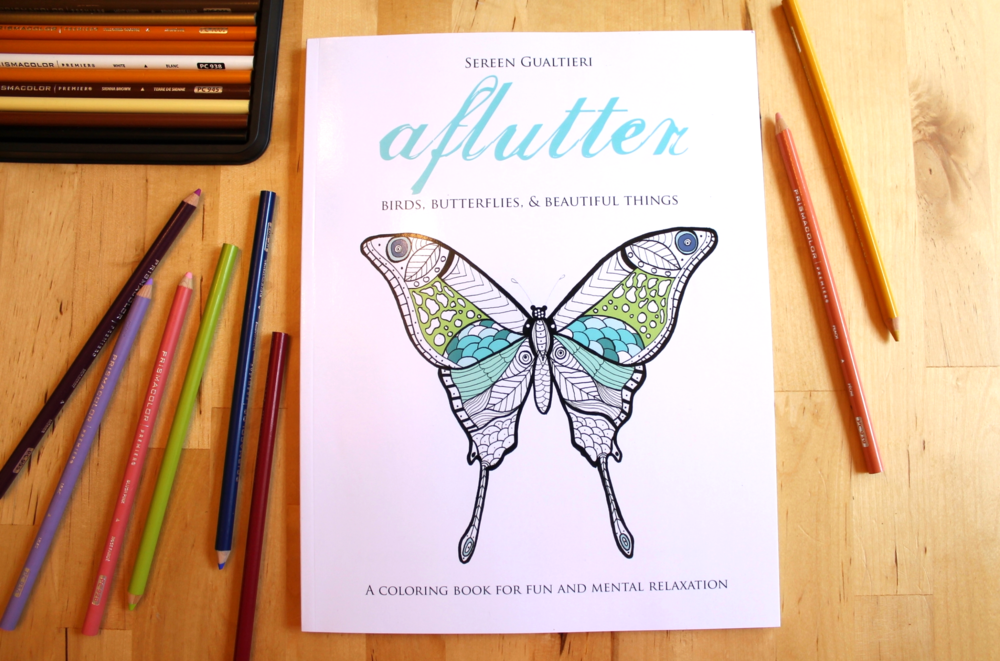 Aflutter adult coloring book