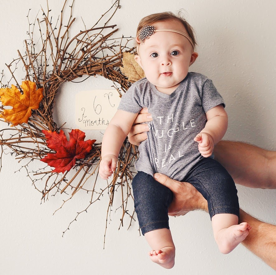 Eleanora, six months | Feathers and Roots