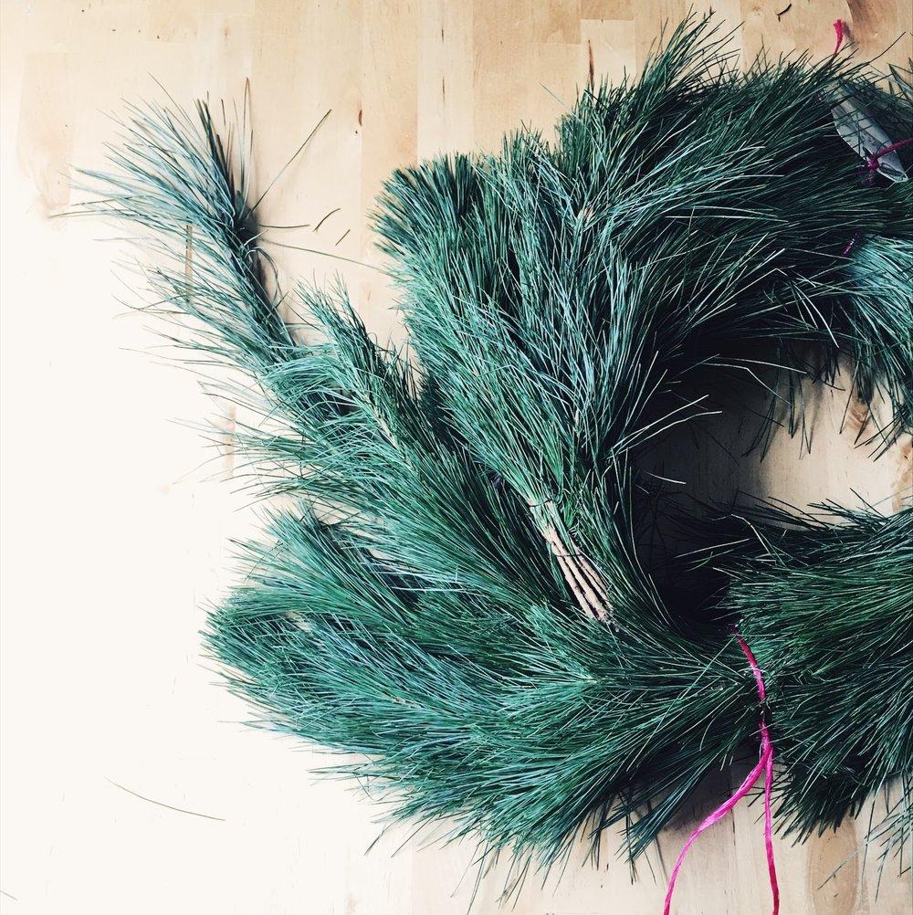 trader joes pine garland