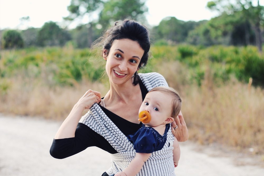 a post about having delightfully full hands in motherhood | Feathers and Roots