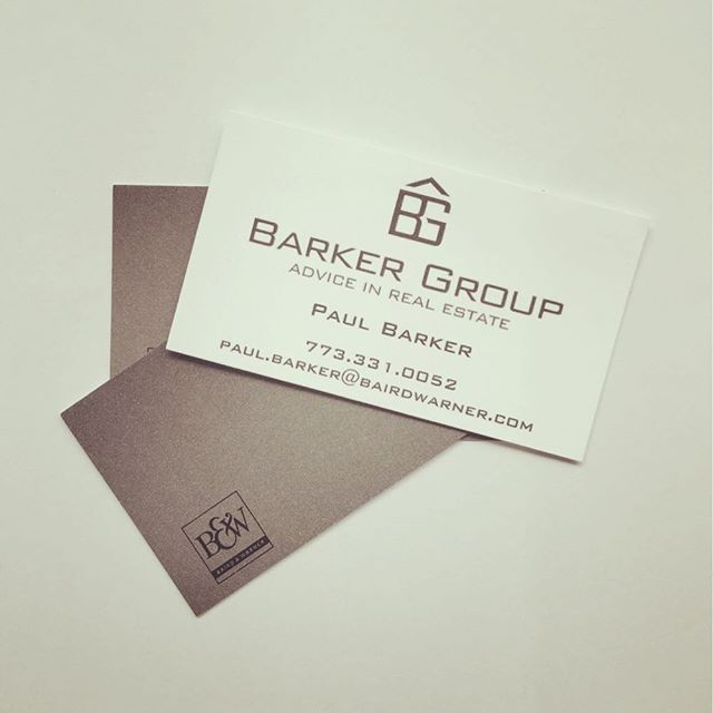 I love how the Barker Group's logo turned out on these business cards!