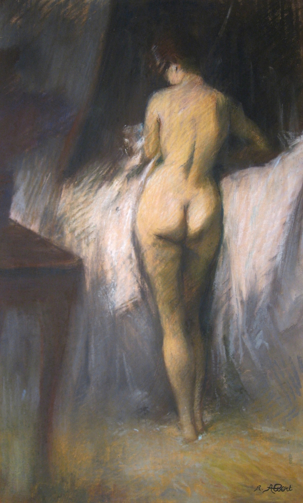 Title: Untitled Year: c. 1885 Medium: Pastel with traces of graphite on paper  Image size: 14 x 23