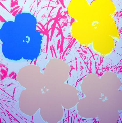 "Title: FLOWERS 11.70 Year: 1980 Medium: SILKSCREEN Image size: 36""X36"""
