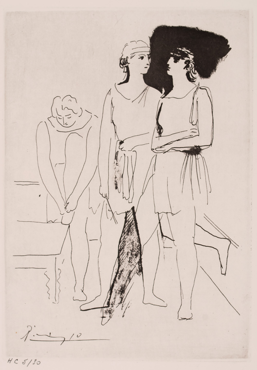 Title: BALLET SERGE LIFAR Year: 1945 Medium: ETCHING Image size: 8.3 X 12 in