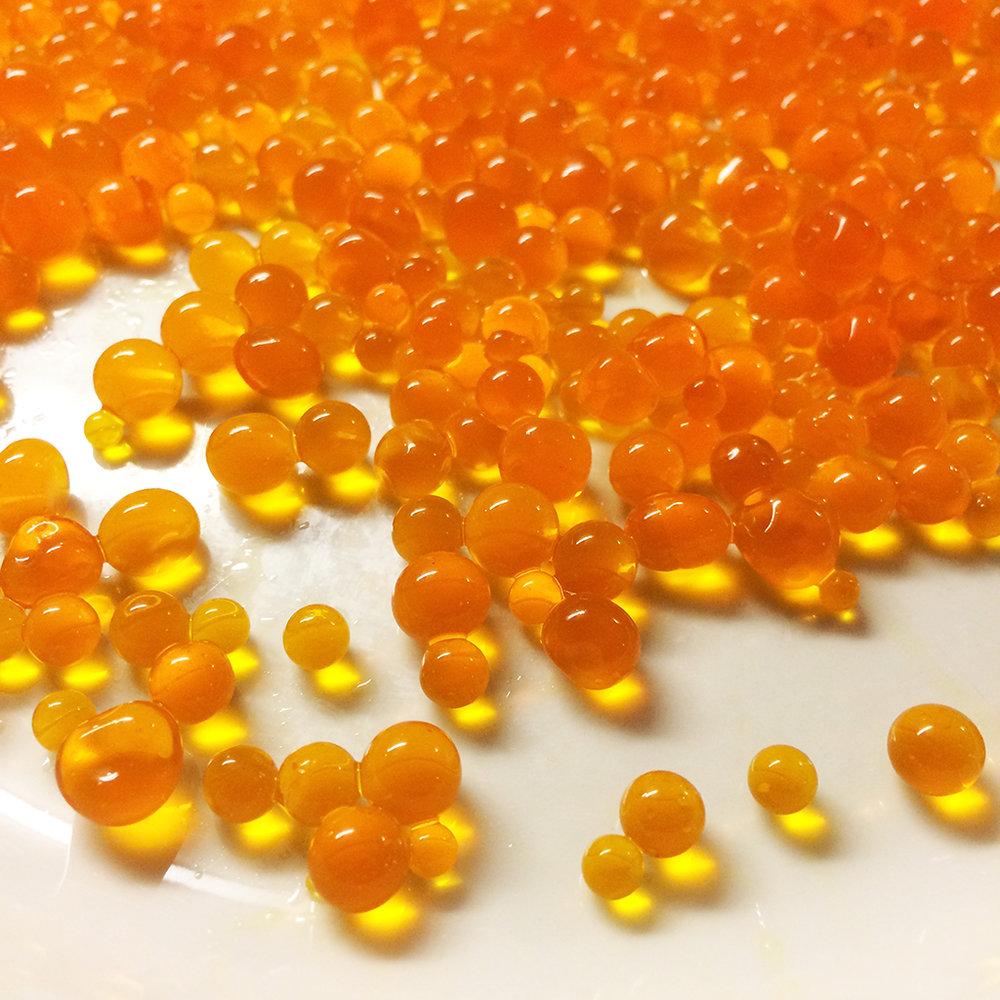 Saffron caviar