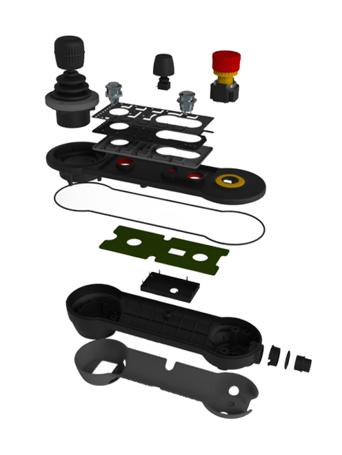 Exploded view rendering or real thing taken apart and arranged nicely