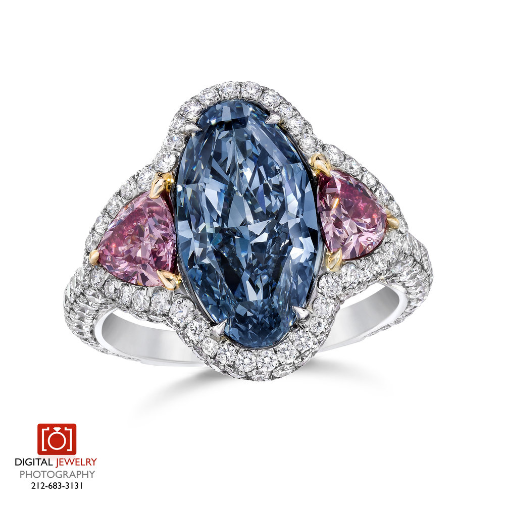 Pink and Blue diamond Ring on white Standing.jpg