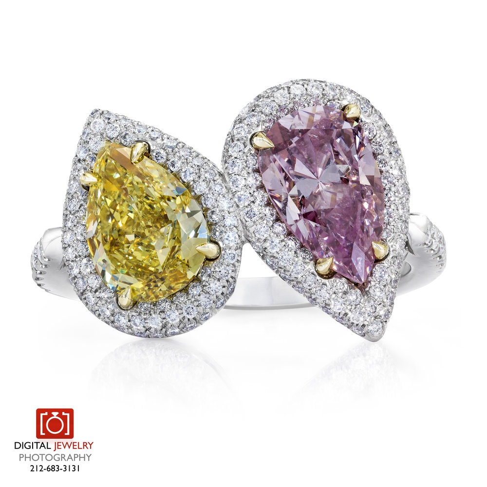 Yellow and Pink Pear Shape Ring.jpg