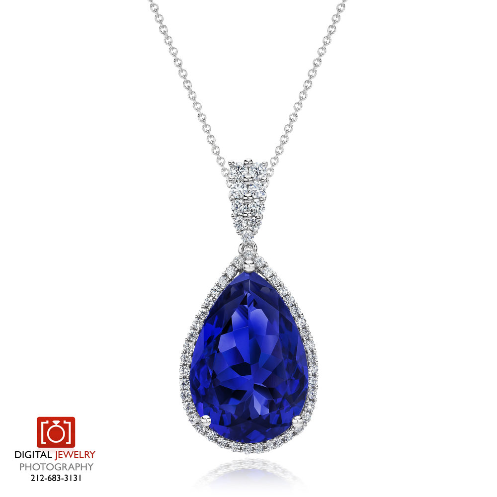 Pear Tanzanite diamond Pendant necklace_.jpg