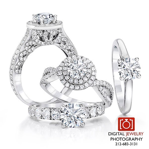 """Say yes to this bridal collection and other fabulous hand crafted images at www.digitaljewelryphotography.net where """"Miracles are made one pixel at a time."""" #bridaljewelry #weddingring #diamondring #jewelryphotographer #yes #loveit #digitaljewelryphotography"""