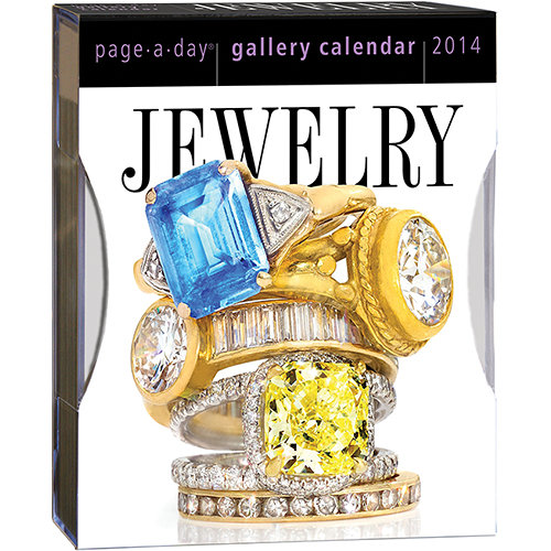 Jewelry page-a-day calendar finished photo.
