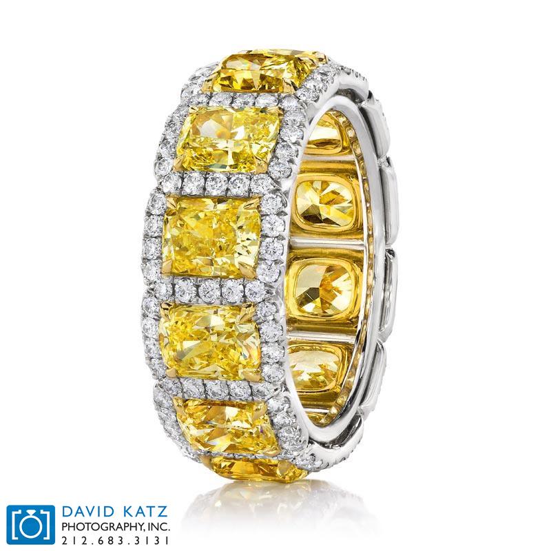 Yellow Diamond Halo Eternity Ring Standing_NEWLOGO.jpg