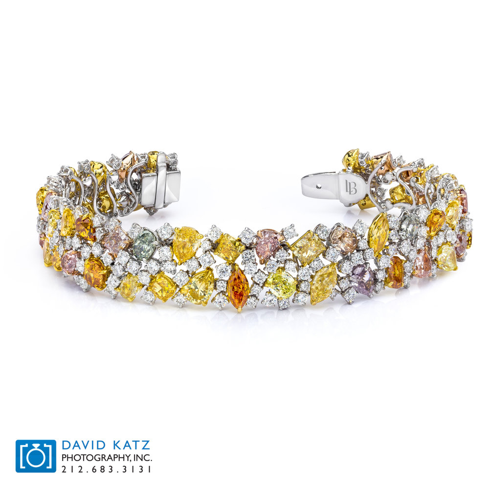 Mixed Color Diamond Flexable Bracelet.jpg