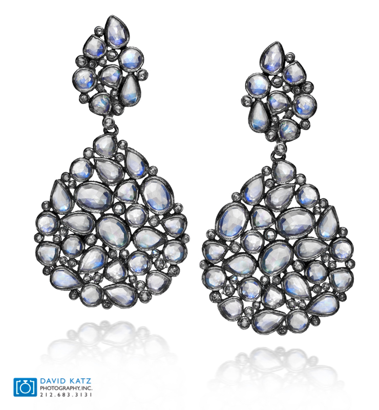 Blue Rose Cut Moon Stone Earrings-2.jpg