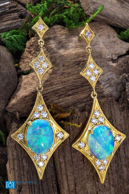 Opal Earrings on Wood Ball-2.jpg