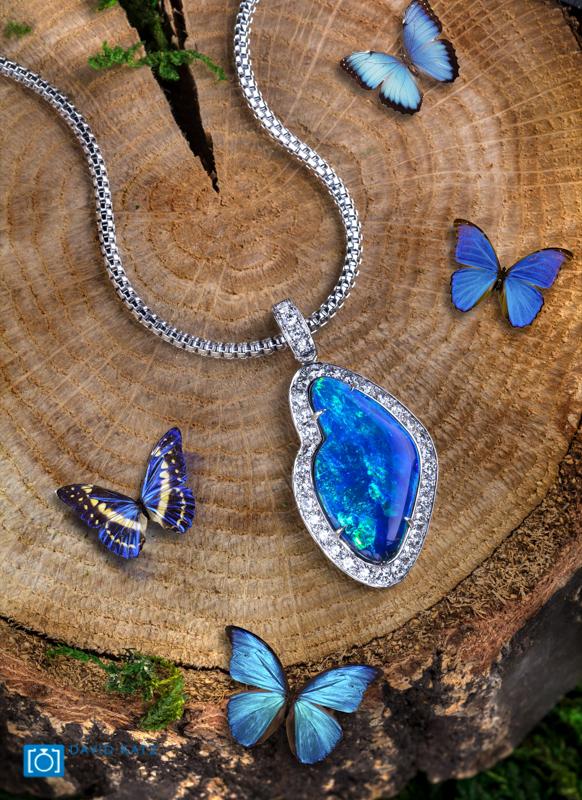 Opal Pendant on Tree Log-2.jpg