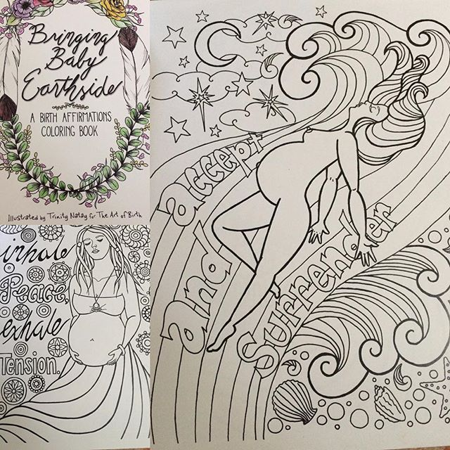 Check out this beautiful birth affirmations coloring book!!! #love #midwife #coloring #birth #homebirth