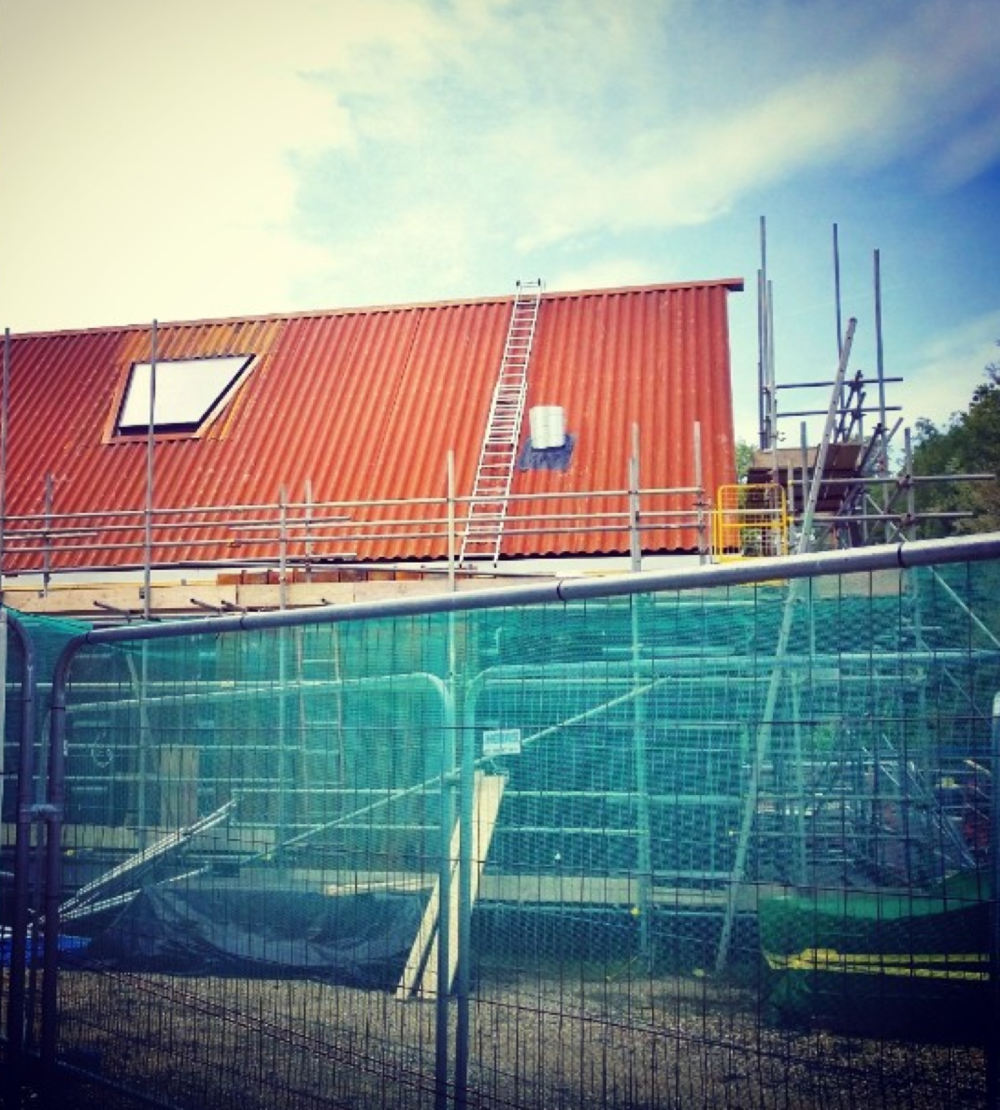 New contemporary visitor's centre at Mottisfont House, Romsey, Hampshire under construction