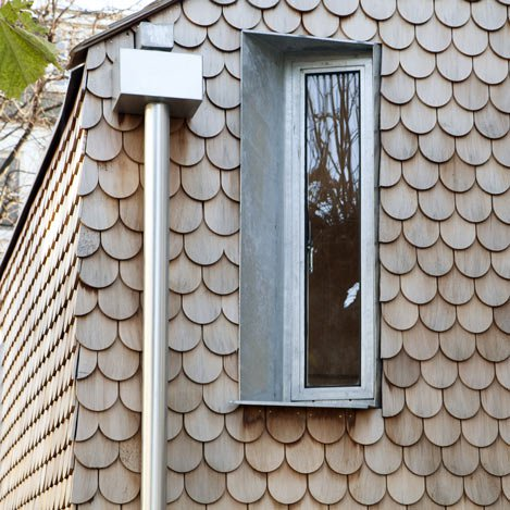 Architectural Precedent - Timber shingles on 'Gingerbread House' in London by Laura Dewe Mathews Architect
