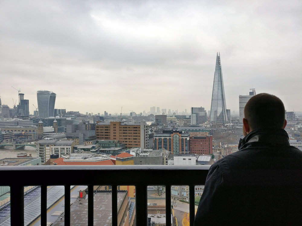 View over London from the Tate Modern Extension