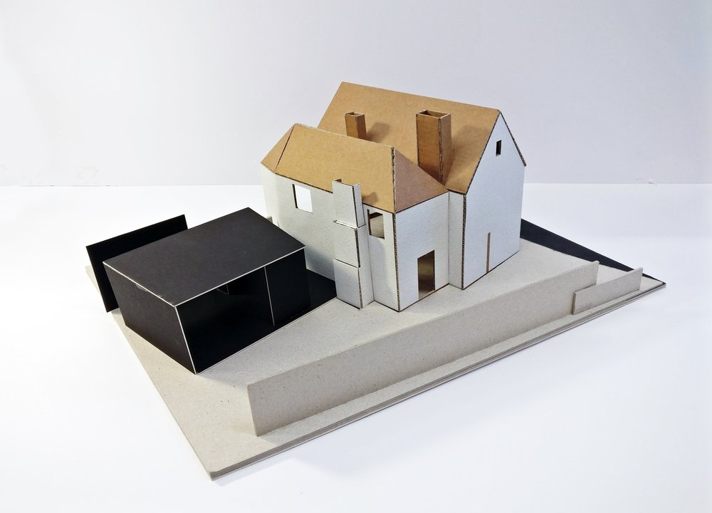Concept Model 01 for Contemporary Extension in Twyford, Hampshire
