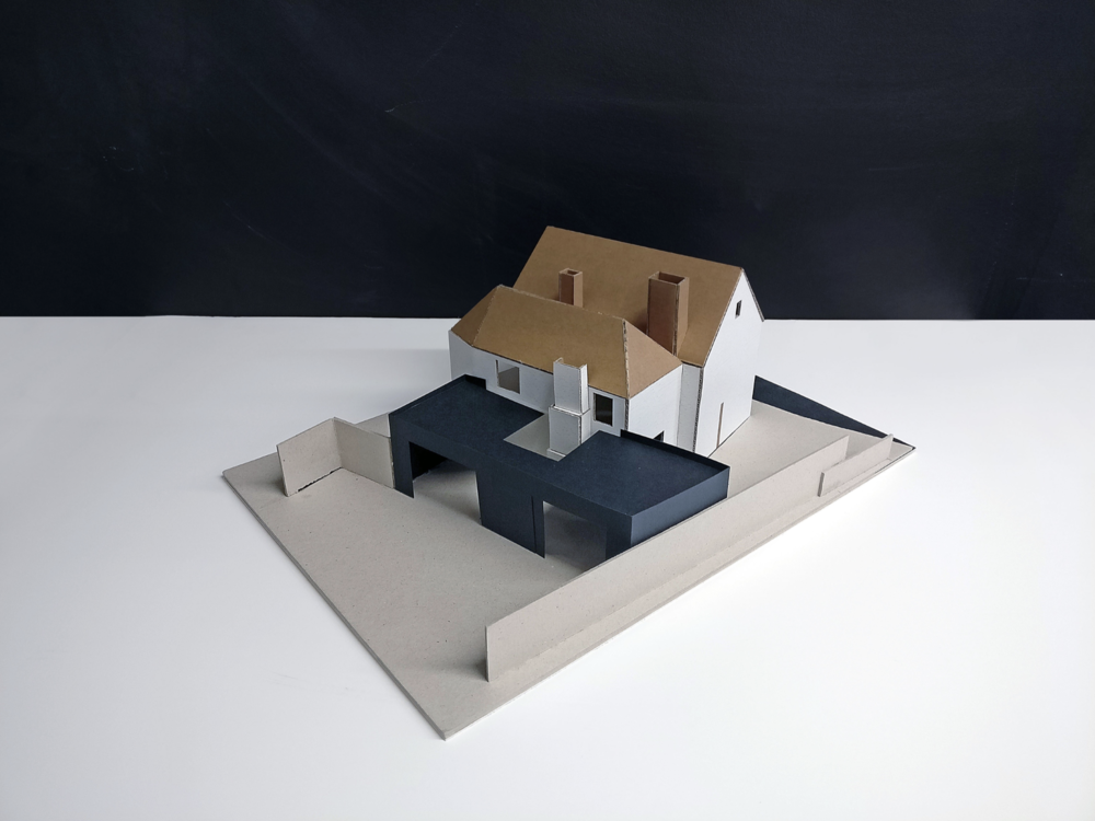 Concept Model 02 for Contemporary Extension in Twyford, Hampshire