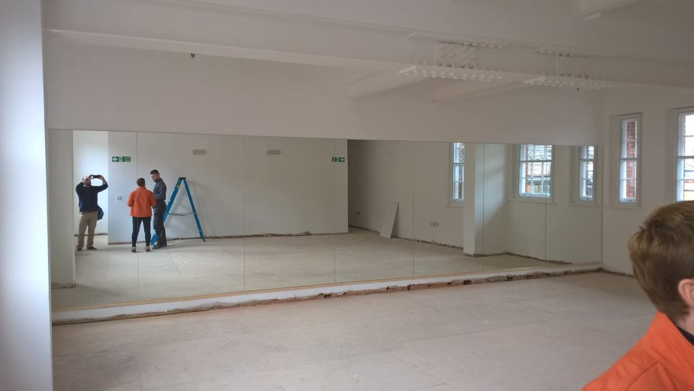 New Energy Yoga Studio - Mirrored wall
