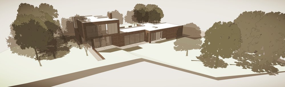 Herdsman's Cottage, Upham, Hampshire, Conceptual View 1