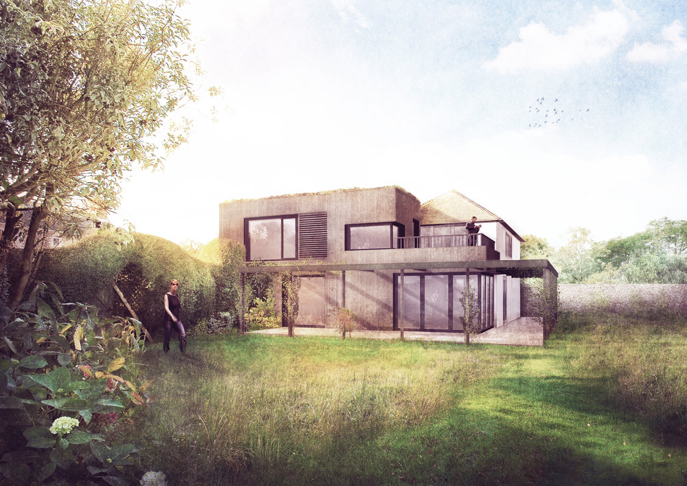Contemporary Extension, Sidlesham Hampshire, Hampshire, Rendered Concept Image