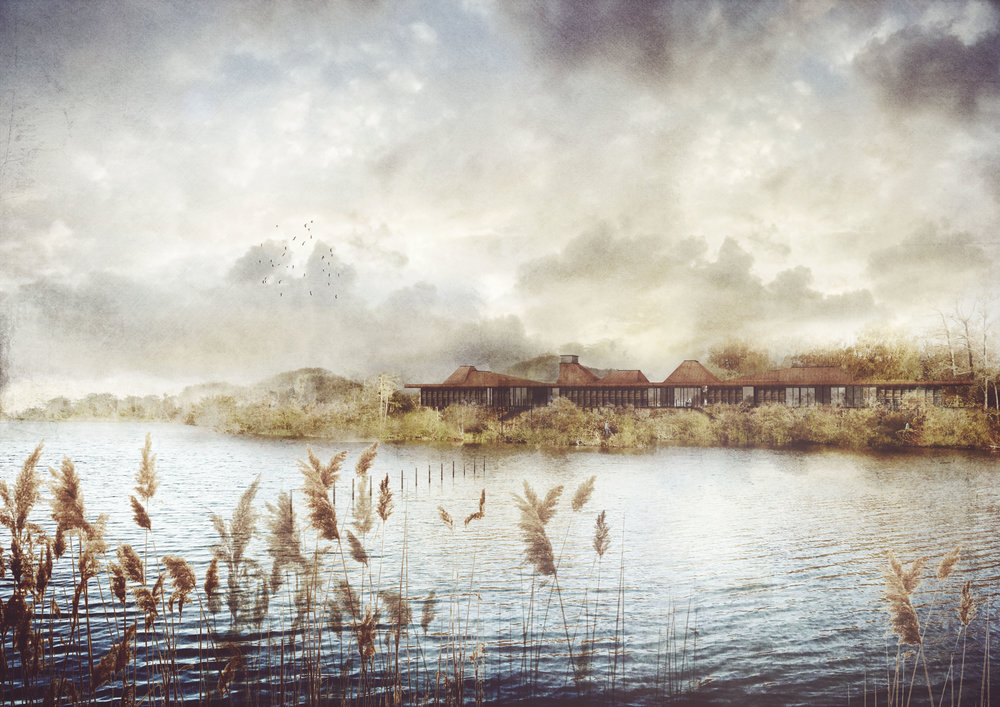 Sevenoaks Visitor Centre, Kent - Lake View Visualisation