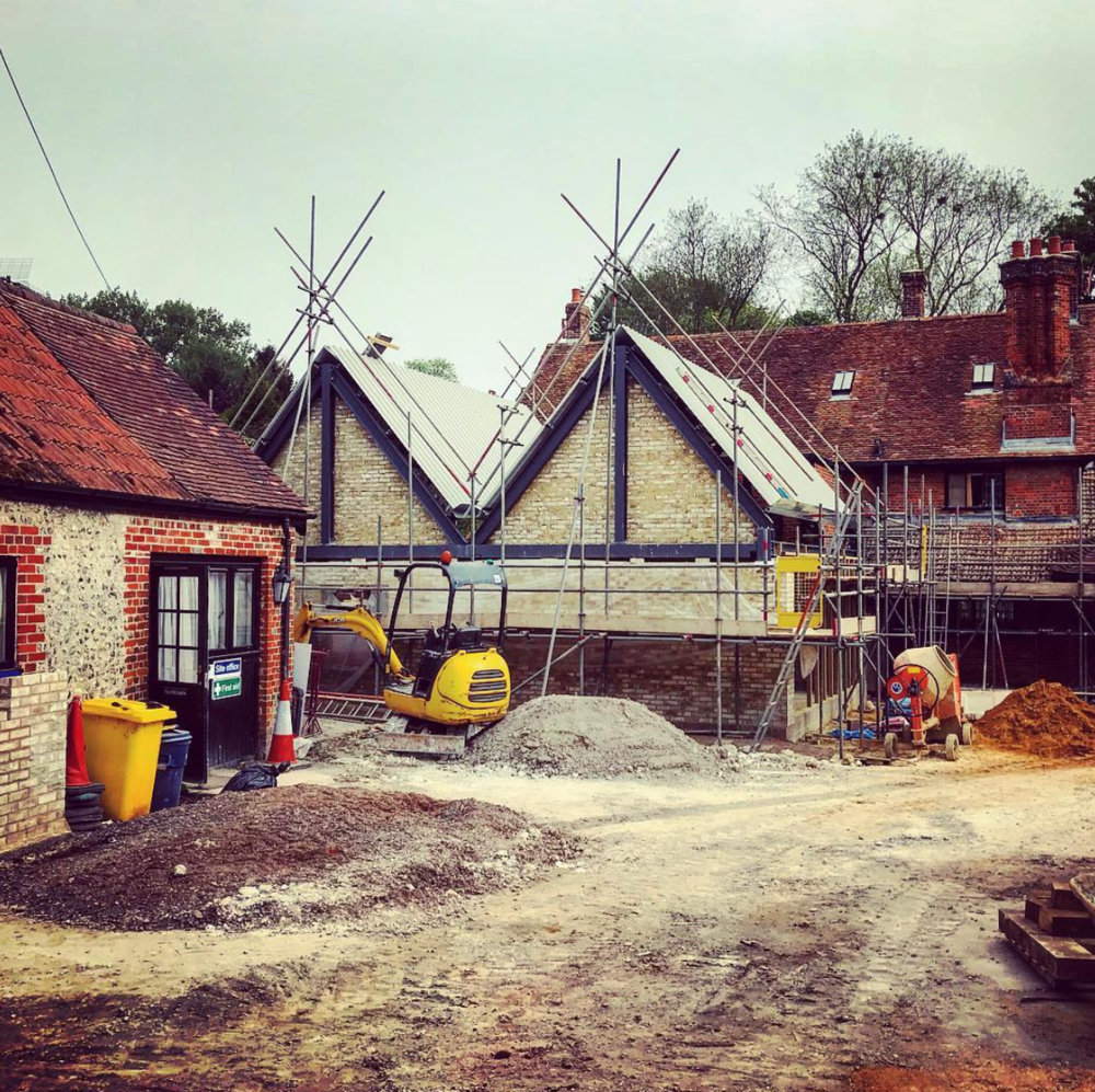 Fox and Hounds, Crawley, Winchester, Hampshire - under construction
