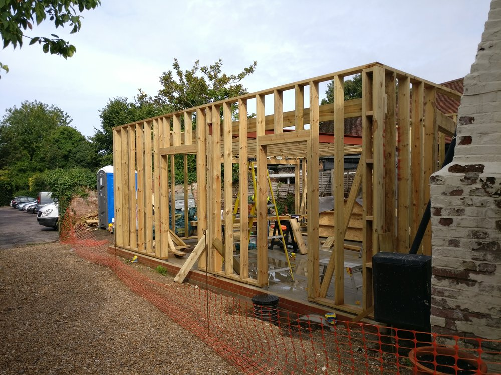 Marshall House, Twyford, Winchester, Hampshire - under construction