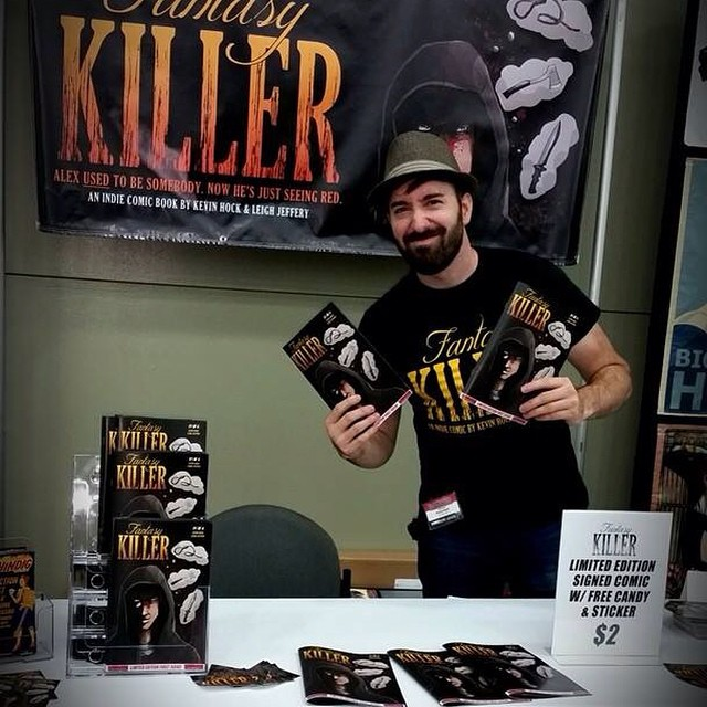 Kevin @Baltimore comic-com! Selling like a fiend:D -------------Go to handsomedevilcomics.com now to purchase your copy of the indie dark comedy Fantasy Killer!! ----#comics #comicbooks #comicgeeks #fantasykiller #handsomedevilcomics #kevinhock #leighjeffery #art #writing #horror #darkcomedy #indie @theincrediblehock @leigh_jeffery