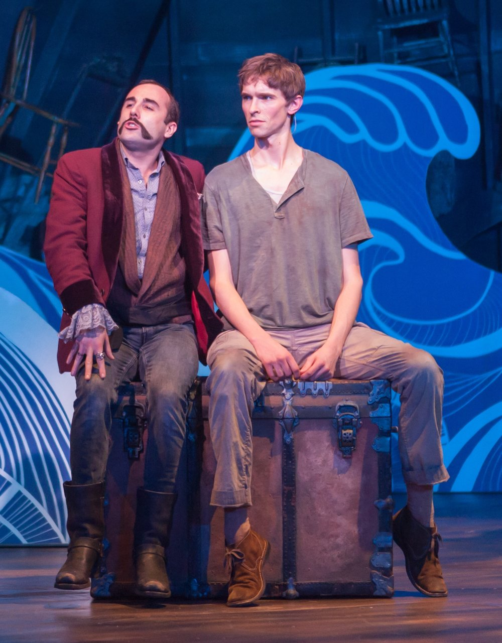 21. Nathan Keepers and Seth Clayton in PETER AND THE STARCATCHER, 2016. Photo by Bill Brymer..jpeg