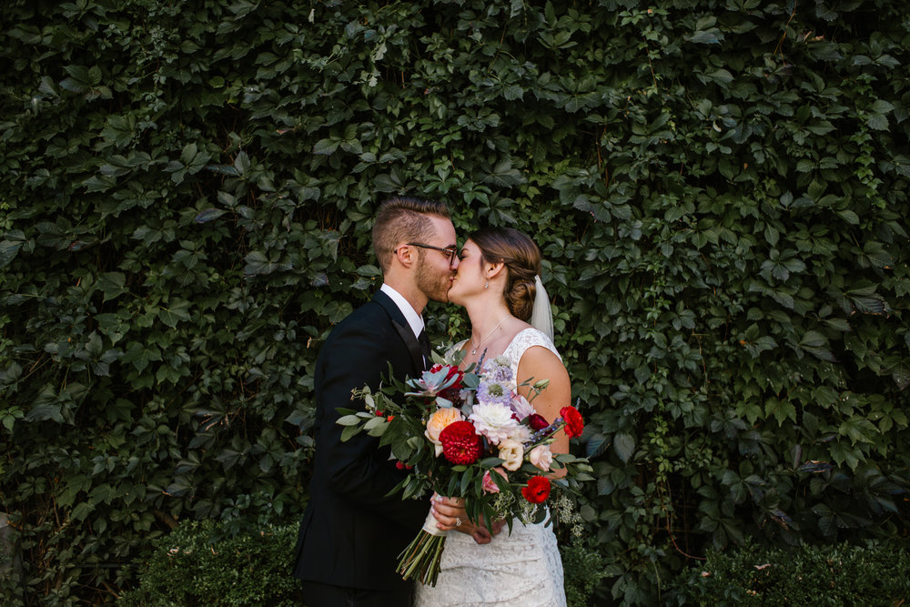 """""""Abby was wonderful! She was able to capture every detail of our wedding and was very prepared. She scouted locations ahead of time and didn't waste anytime capturing the photos we wanted. She was very easy going to work with but able to give direction when the wedding party started to lose focus."""" -Lia & Derek"""