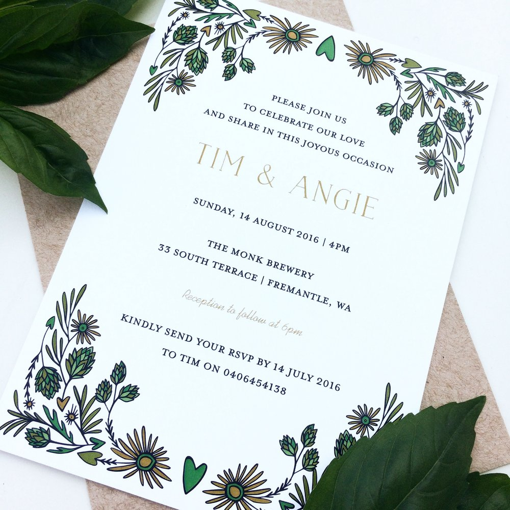 Wedding Invitations — PAPER JANE